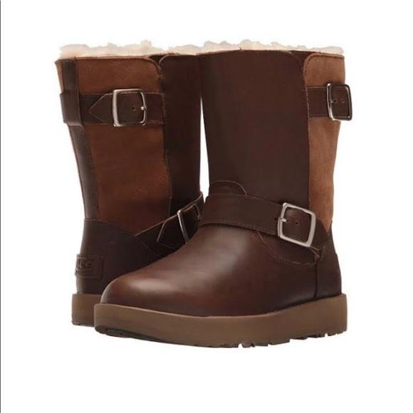 806fbb6b645 UGG Breida Waterproof Leather Suede Boots NIB NWT